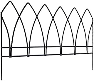 BestNest Panacea 89523 Gothic Arch Border Fence, Black, 15