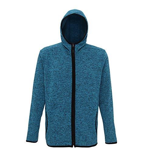 Tri Dri Veste de sport en laine mélangée pour homme - Bleu - M