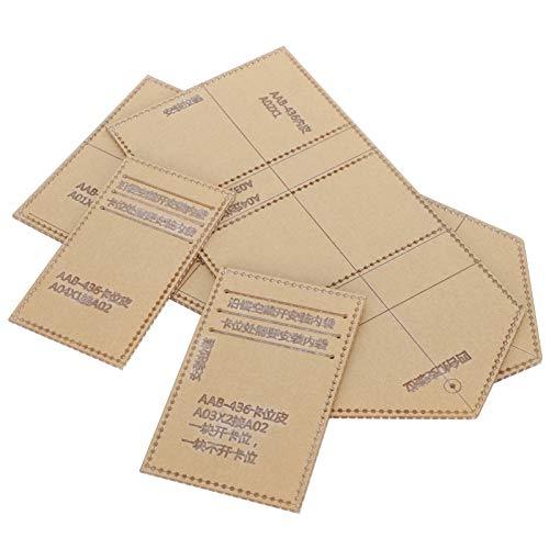 SALUTUYA Plantilla de acrílico para Monedero Plantilla de Cuero Herramientas para Billetera de Bricolaje Plantilla de patrón de Cuero para Billetera Triple