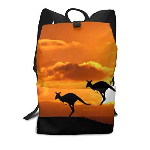 Homebe Rucksäcke,Daypack,Schulrucksack Für Erwachsene Jungen Mädchen, Kangaroos Printed Primary Junior High Cute Bag Bookbag Elementary