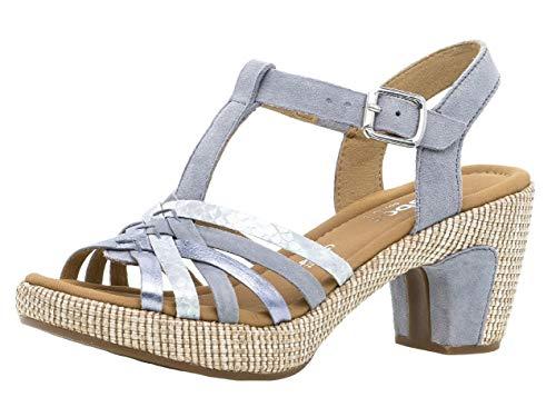 Gabor Damen Sandaletten 22.736.16, Frauen Sandaletten,Sommerschuhe,offene Absatzschuhe,hoher Absatz,Cielo (ba.st),39 EU / 6 UK