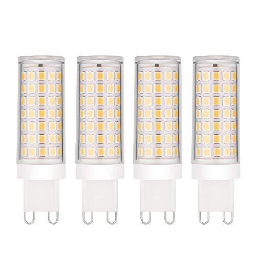 EKSAVE 4-Pack Dimmerabile Standard G9 Base risparmio energetico SES Lampadine a LED - 8W / 600-700LM, Lampadina a incandescenza da 70W Equivalente, Angolo a fascio 360 °, Soft Warm Bianco 3000K