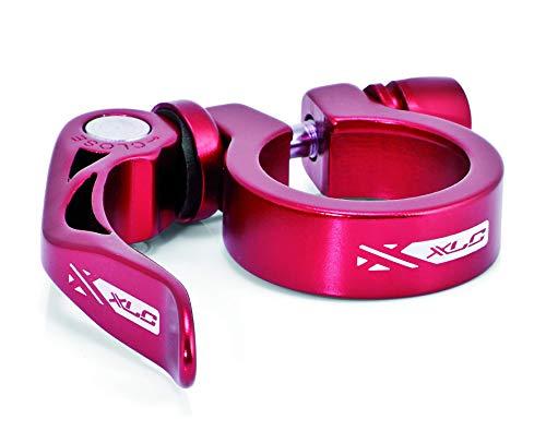 XLC 2502064007 Abrazadera para tija de sillín PC-L04, Unisex, Rojo-Rojo
