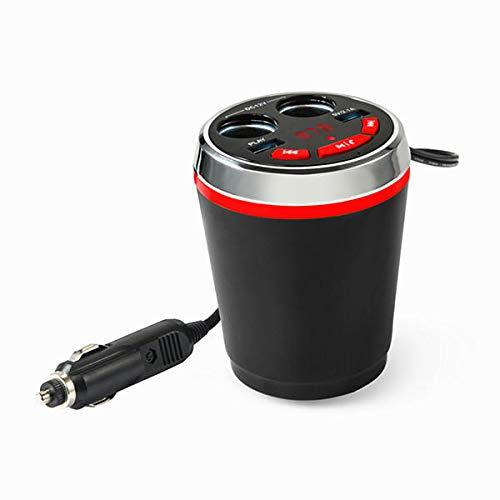 WZhen Bluetooth Inalámbrico FM Coche Cigarrillo Encendedor Doble USB Enchufe Enchufe Adaptador De Mano - Azul
