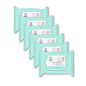 Antibacterial Hand Wipes Baby Hand and Face Wipes | for Baby Hands and Faces | Enriched