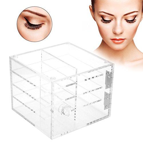 Wimpern Aufbewahrungsbox, 6 Schichten Falsche Wimpernverlängerung Tragen Box Große Kapazität Acryl Aufbewahrungsbox Make-up kosmetische Fall, Auch Geeignet für Nagel Tipps Kunst, Nähen