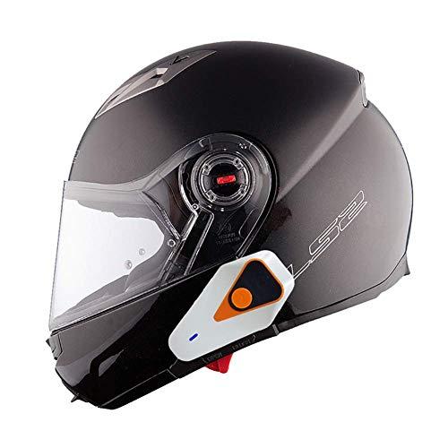 Auriculares Bluetooth para Motocicleta Intercomunicador Casco Moto, Bluetooth 3.0 Manos Libres Radio FM Impermeabilidad Gama Comunicación Intercom de 1000m Montar a Caballo y Esquí
