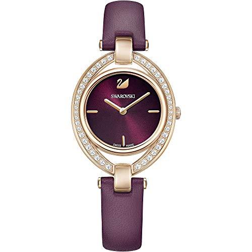 Swarovski Damen-Armbanduhr Analog Quarz One Size, rot, rot