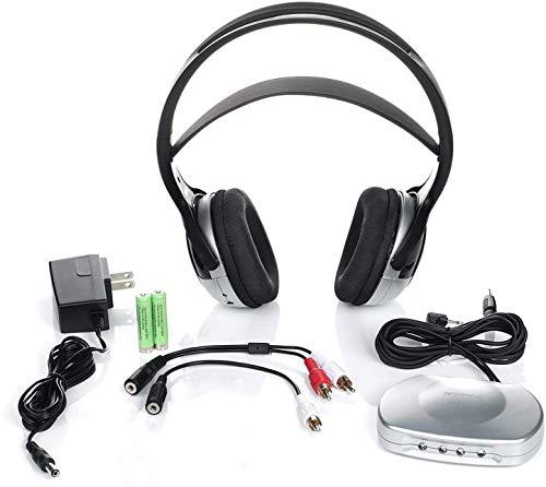 J3 TV920 Listener Rechargeable Wireless Infrared Headphones for TV Listening System   Cordless Over Ear Headphone (Full Kit1)