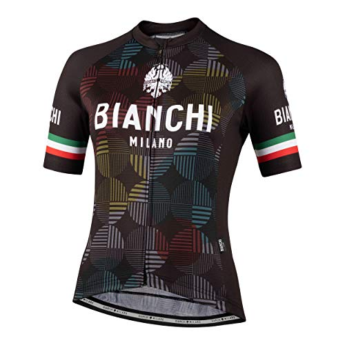 Bianchi Milano Ancipa Damen Radtrikot, kurzärmelig, Schwarz, Größe L