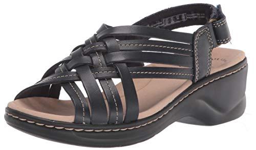 Clarks womens Lexi Carmen Sandal, Navy Leather, 6 US