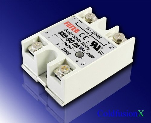 Lightobject ESSR-90DAC Solid State Relay, DC In AC Out, 90 amp
