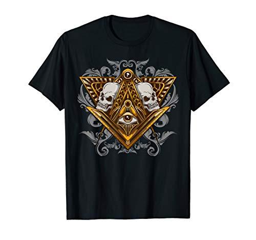 Freimaurer Illuminati Augenschädel Freimaurer T-Shirt