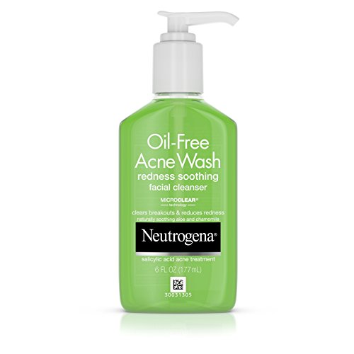 Neutrogena Oil-Free Acne Wash Redness Soothing Facial Cleanser, 6 Ounce (Pack of 3)