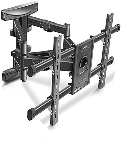 Televisores Soporte Ajustable de Montaje en Pared para TV Giratorios de Movimiento Completo Extensión Rotación de inclinación para la mayoría de 37-80 Pulgadas (Color: Negro)