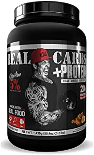 Rich Piana 5% Nutrition Real Carbs + Protein with Real Food Meal Replacement Powder, Complex Carbohydrates, Low Glycemic R...