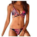 Sylar Trajes de Baño 2020 Dos Piezas Sexy Conjunto de Bikini Mujer Push Up con Relleno Ropa de Playa Bañadores Mujer Natación Acolchado Bra Biquinis de Playa XL