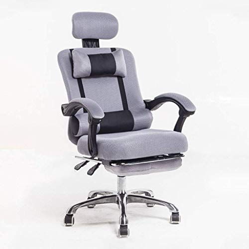 Daily Equipment Office Chair/Swivel Chair/Conference Chair Simple Stylish Good Moving Armrests Comfortable Waist Footstool Cotton and Linen Ergonomic 360 Degree Rotation Lifting Suitable for Office