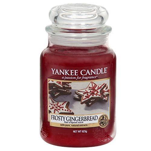Yankee candle Jar Frosty Gingerbread Candela di Natale, Multicolore, Unica