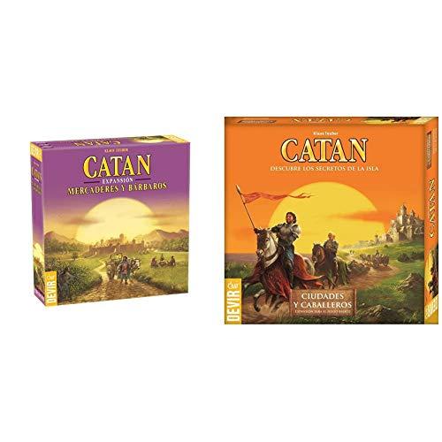 Devir Catan Expansión Mercaderes y Bárbaros, Juego de Mesa + Expansión Catan: Ciudades y Caballeros, Juego de Mesa (Bgciudades)
