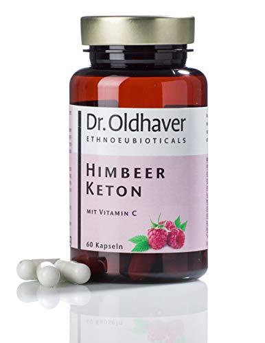 Dr. Oldhaver Himbeer Keton (60 Kapseln) Gewichtreduzierung, Laktosefrei & Glutenfrei, Frei von Farbstoffen, Premium Qualität, Mit Apfelessig, Apfelpektin, Grüner Tee, African Mango, Koffein, Vitamin C, Acai