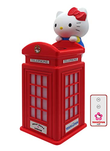 Teknofun- Hello Kitty London Cargador si Hilo para Smartphones, Color Rojo (811254)
