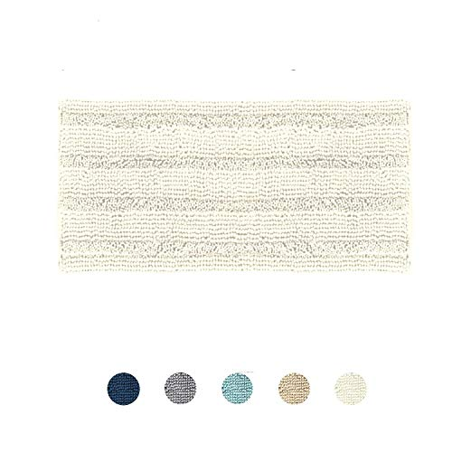 DomoWin Tappeto da Bagno Tappetino Bagno Antiscivolo Materiale in Microfibra, Morbido ed Elastico Lavabile in Lavatrice Tappeto Bagno Camera (Bianco, 50 x 80 cm)