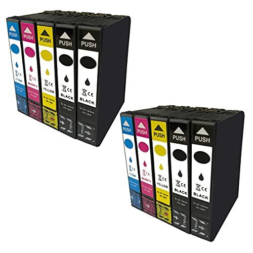 Hyggetech 10 cartuchos de tinta compatibles como repuesto para T1811 T1812 T1813 T1814 18XL Multipack 18 XL
