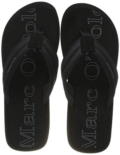 Marc O'Polo Herren Beach Sandal, black, 45 EU