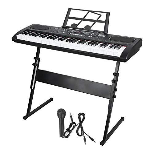 Teclado de piano electrónico, portátil y electrónico, portátil, estándar de 61 teclas, pantalla digital, piano electrónico, teclado...