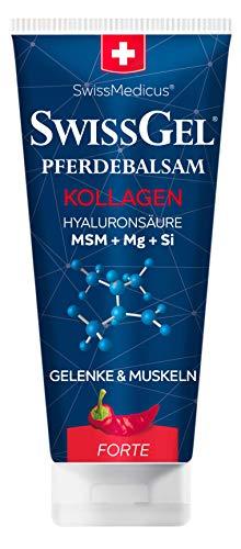 SwissMedicus Pferdebalsam mit Kollagen wärmend extra stark Kräuterbalsam für wärmende Körperpflede, Bevegungsapparatschmerzen Erleichterung. Mit kollagen, hyaluronsäure, 200 ml