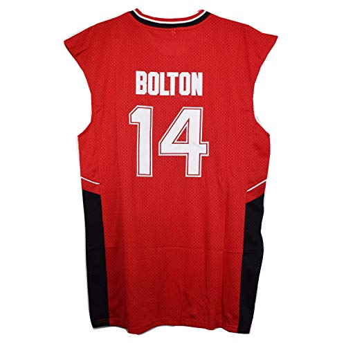AIFFEE #14 Bolton Wildcats Red Color Basketball Jersey S-XXL 90S Hip Hop Clothing for Party, Stitched Letters and Numbers (S)