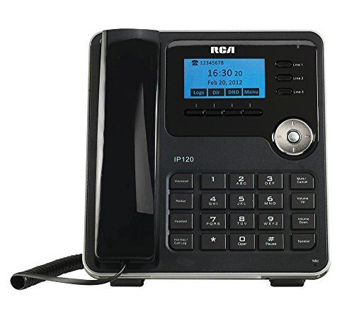 rca corded cordless phones RCA IP120S VoIP Corded 3 Line Telephone