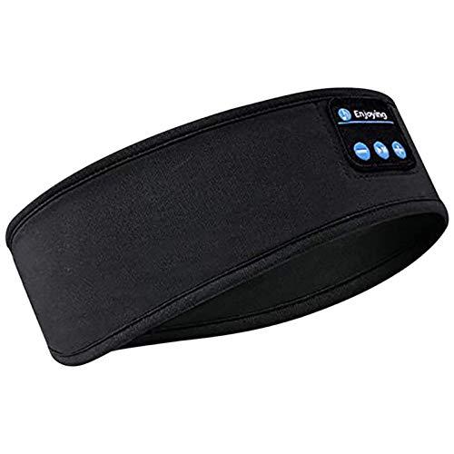josietomy Auriculares Bluetooth con diadema para dormir, bandas para el sudor, auriculares con micrófono y altavoz integrado para entrenamiento, correr, yoga