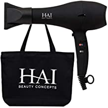 STYLSET by HAI - Ionic Professional Hair Dryer - Ultra Quick-Dry - Fully Adjustable Wind Speed and Temperature - With Tote