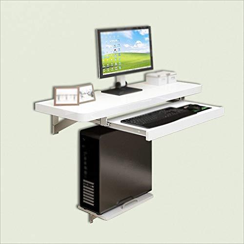 MHBGX Schreibtisch, Dekorativer Tisch, Klapptisch Wandschreibtisch Mit Ablagefach Und Schubladen, Familientisch,Weiß,L1200
