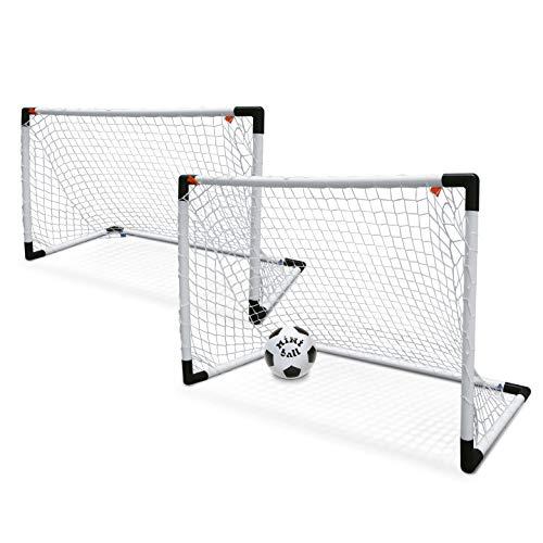 Mondo - Set de 2 Mini porterías para fútbol y balón