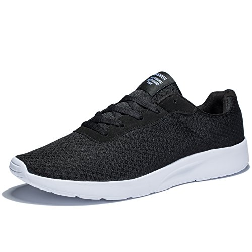 KENSBUY Men's Running Shoes Lace up Fashion Breathable Sneakers Lightweight Mesh Soft Sole Casual Athletic Sport Shoe EU 41