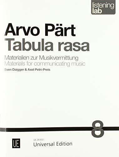 Arvo Pärt: Tabula rasa: Listening Lab - Materialien zur Musikvermittlung. Band 8.