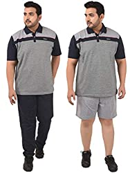 Confidence Mens Cotton Night Wear, Evening Wear and Sports Wear Track Suit-Melange