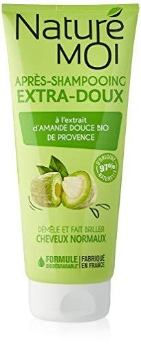 Naturé Moi – Après-shampooing extra-doux – À l'extrait d'amande douce de Provence bio – Pour les cheveux doux et brillants – 200ml