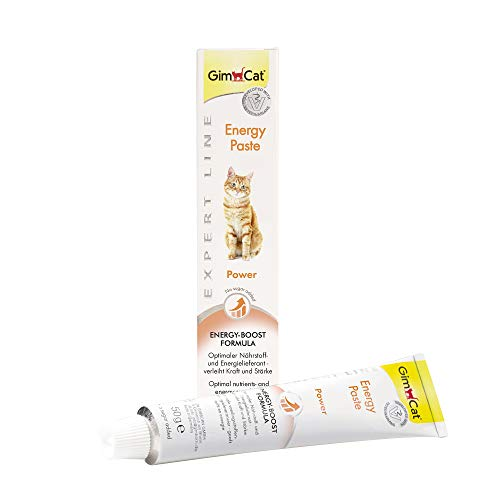 GimCat EXPERT LINE Energy Paste - Funktionaler Katzensnack als optimaler Nährstoff- und Energielieferant - 1 Tube (1 x 50 g)