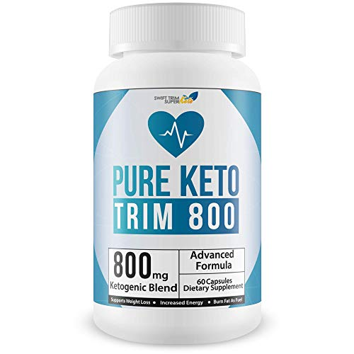 Pure Keto Trim 800 Pill - Keto Trim Diet - Burn More Fat & Lose More Weight with Accelerated Ketosis - Best Concetration 800 Mg Ketogenic Blend - Best Weight Loss - Best Keto Diet Pills