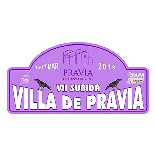 Pegatina Placa Rallye Villa DE PRAVIA 2019 Adhesivos Rally VINILOS Coche PR287