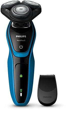 Barbeador Serie 5000, Philips, Aquatouch S5050/04, Azul e Preto