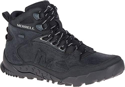 Merrell Annex Trak V Mid Waterproof J16999 Wanderschuhe Turnschuhe Boots Herren J16999 Black (42 EU, Black)