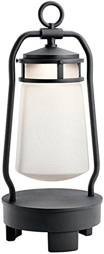 Kichler 49500BKTLED Lyndon Portable Bluetooth Lantern, 1 Light LED 7 Watts, Textured Black