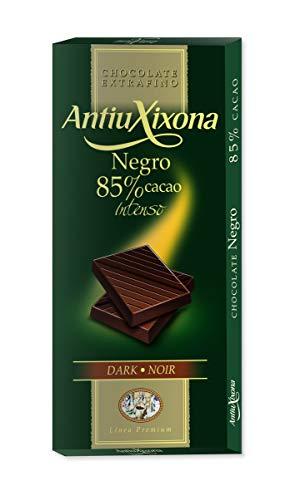 Antiu Xixona Premium - Chocolate Negro 85% Cacao, 100 Gramos