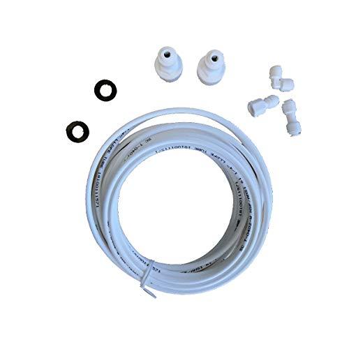 Whirlpool - tuyau arrivee d eau + accessoire raccord pour réfrigérateur WHIRLPOOL GENERAL ELECTRIC