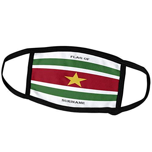 3dRose fm_211266_2 Face Mask Medium Gesichtsmaske, Polyester, Flagge Suriname